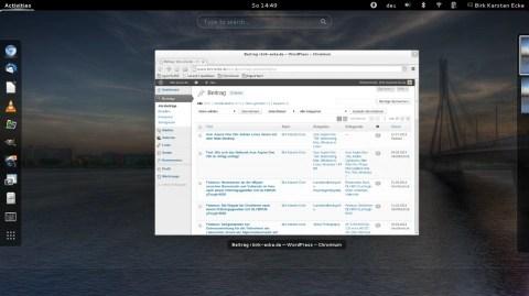 Bild: openSuSE mit WordPress auf einem Acer Aspire One 756.