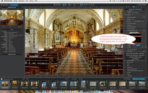 """Bild: Jetzt werden wir mal das Ergebnis der """"PRIME"""" Rauschunterdrückung von DxO Optics Pro 9 Elite überprüfen. Dazu bei Rauschunterdrückung """"PRIME"""" auswählen."""