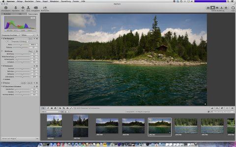 Bild: Apple Aperture - hier in der aktuellen Version 3.5 - wird in Zukunft nicht mehr weiterentwickelt. Es gibt nur noch ein Update für das kommende Mac OS X Yosemite, dann ist Schluss.