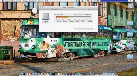 """Bild: Die optionale 512 GByte große Solid State Disk (SSD) des MacBook Air 11"""" ist gut für viele Fotos im RAW Format."""
