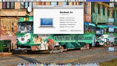 Bild: Konfiguration meines MacBook Air - Überblick.