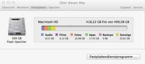 """Bild: Wenn man in den Einstellungen der Time Machine die automatischen Backups auf """"Aus"""" stellt werden keine neuen Backups auf der Festplatte des MacBook angelegt. Alte Backups werden gelöscht."""