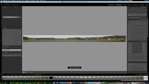Bild: Das Panoramafoto kann dann genau so wie jede andere RAW Datei in Lightroom behandelt werden.