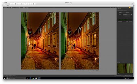 Bild: Google Nik Collection - Dfine 2 unter Windows 10. Links das Originalfoto im Format JPEG. Rechts das nachbearbeitete Foto im Format JPEG.