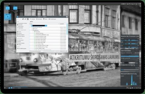 Bild: Die Verknüpfung von Google Drive zum Kubuntu 18.04 Desktop wird problemlos vom Dateimanager Dolphin geöffnet.