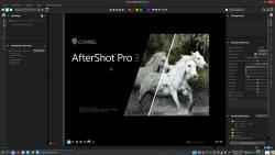 Bild: Der Startbildschirm von Corel After Shot Pro 3.5 unter Kubuntu Linux 18.04 LTS.