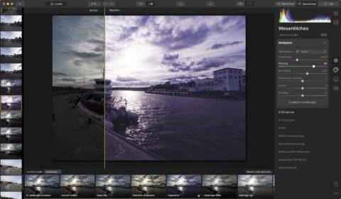 Bild: Skylum Luminar 4. Viele Möglichkeiten der Bildgestaltung sind mit den vorgefertigten Looks möglich. Klicken Sie auf das Bild um es zu vergrößern.
