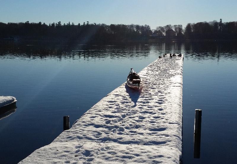 Vinter roning i kajak (Foto Hanne Doeleman)