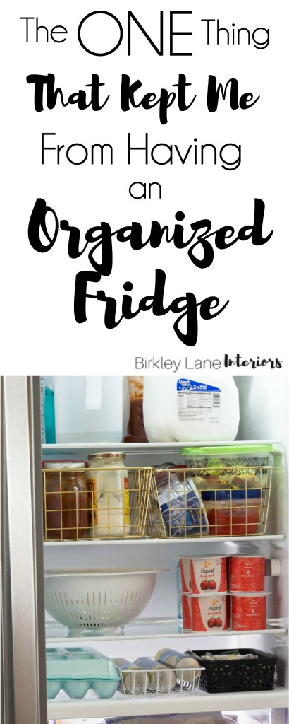 Want an organized fridge? Click here to find out the one thing that kept me from keeping my fridge organized and what I did to change it! How to organize your fridge, how to organize your fridge ideas, fridge organization, refrigerator organization, how to organize your refrigerator, organized fridge, organized fridge side by side
