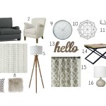 Cozy Living Room Mood Board
