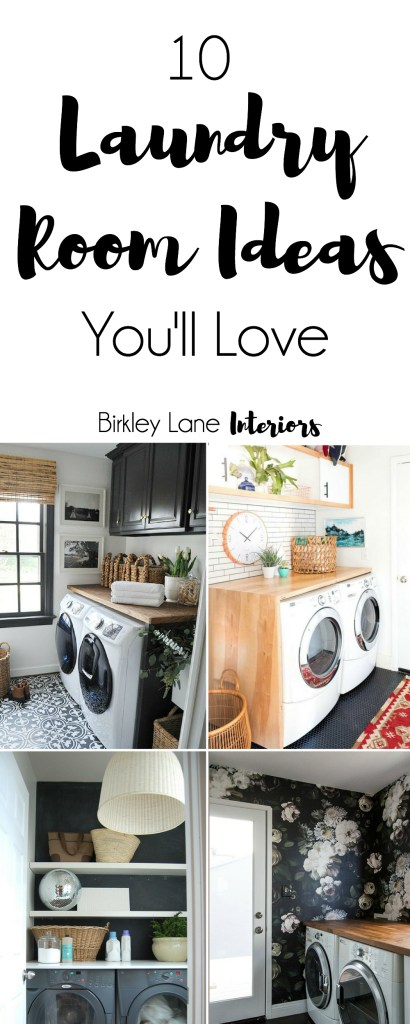 Looking for some amazing laundry room inspiration? Click here for ten ideas to freshen up your laundry room and get ready to be motivated! Laundry room ideas, laundry room, laundry room decor, laundry room ideas small, laundry room DIY, laundry room organization, laundry room storage
