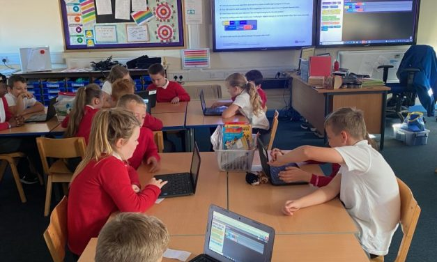 Computing in the classroom for the Polar Bears.