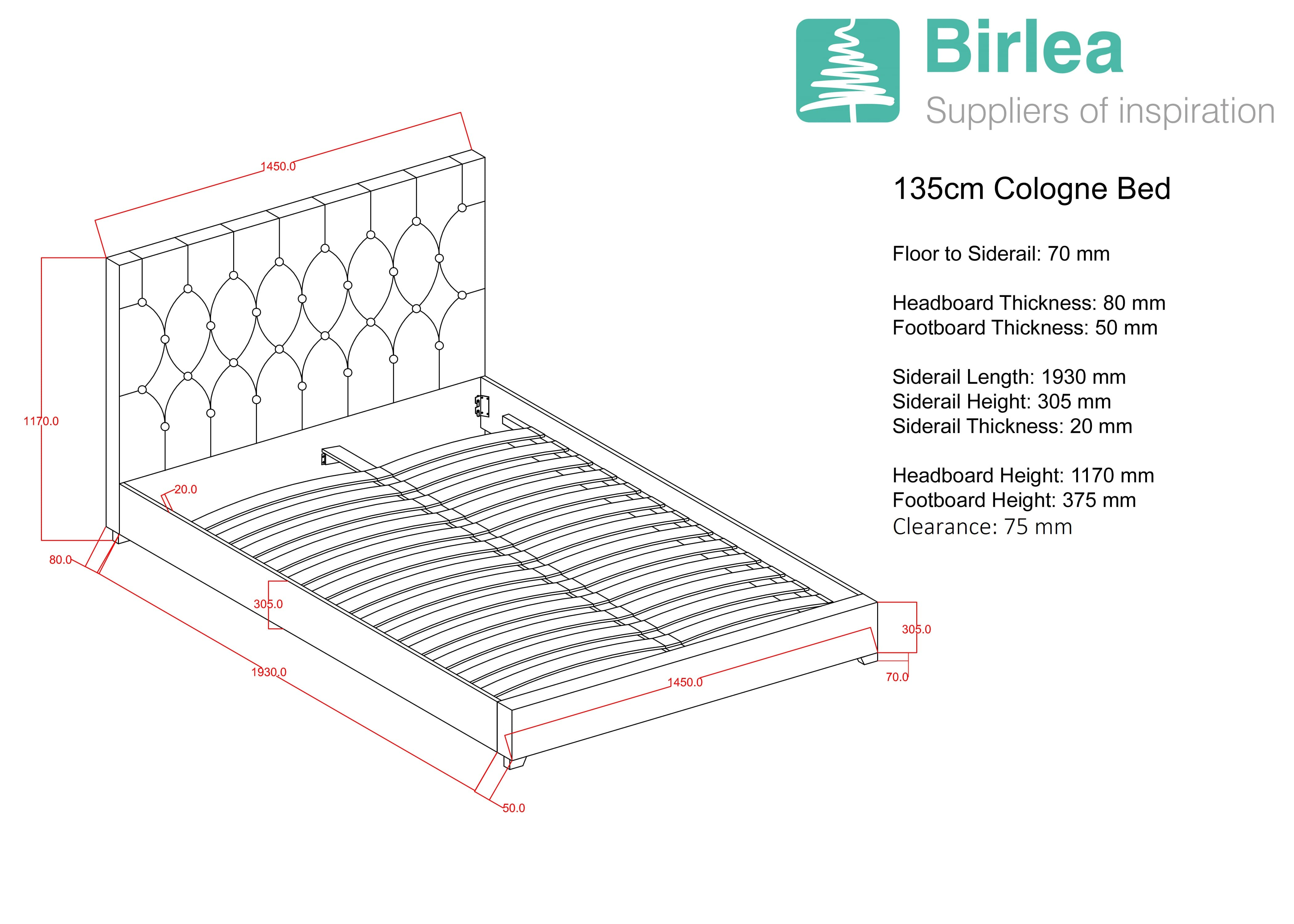 Contemporary Fabric Cologne Bed