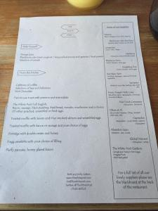 The White Post Breakfast Menu