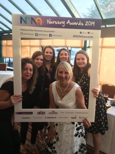 Birmingham Day Nurseries staff at the NDNA awards 2019