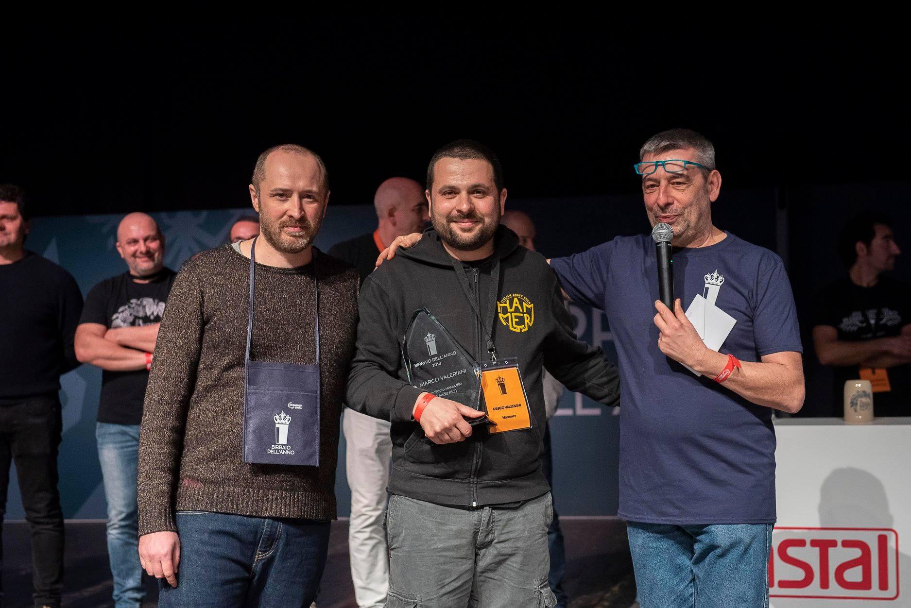 Birraio dell'Anno 2018: vince Marco Valeriani di Hammer!
