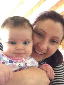 Michelle and baby – Birth, Baby & You – Dee Bell – Lactation Consultant for Kent, Surrey & Sussex
