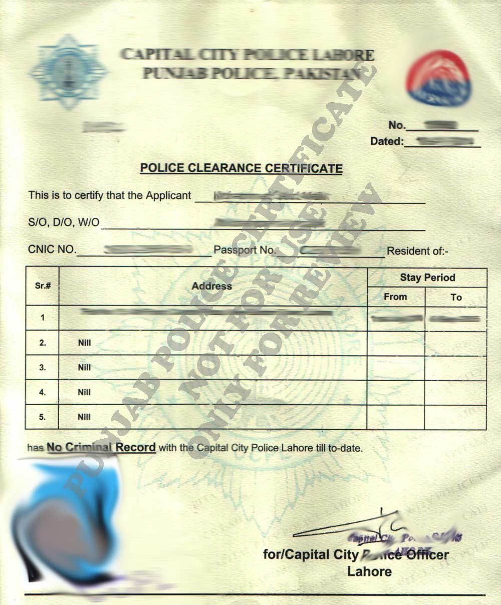 Police certificate lahore xflitez Choice Image