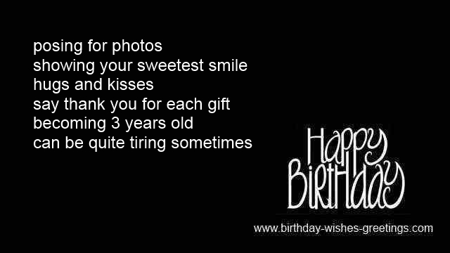 3rd Birthday Greetings Girl Or Boy 3 Year Old Bday Wishes