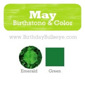 May Birthstone and Color