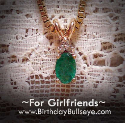 Birthday Gift for Girlfriend Emerald Necklace