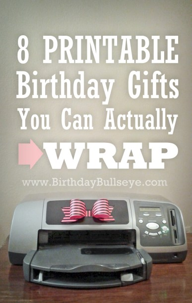 Printable Birthday Gift