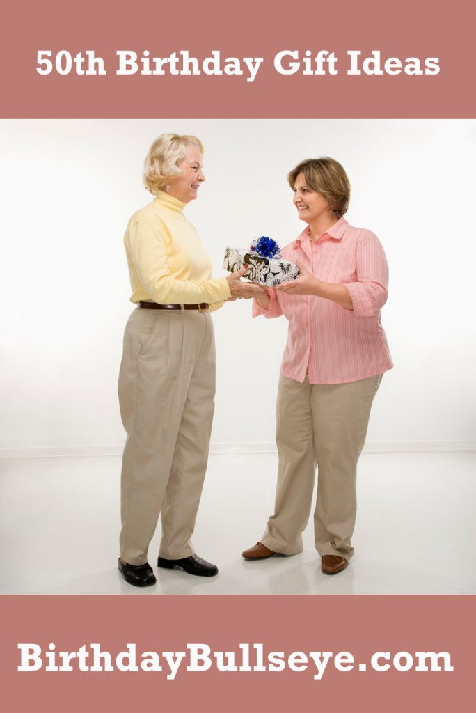Middle-Aged Women Exchanging Gifts