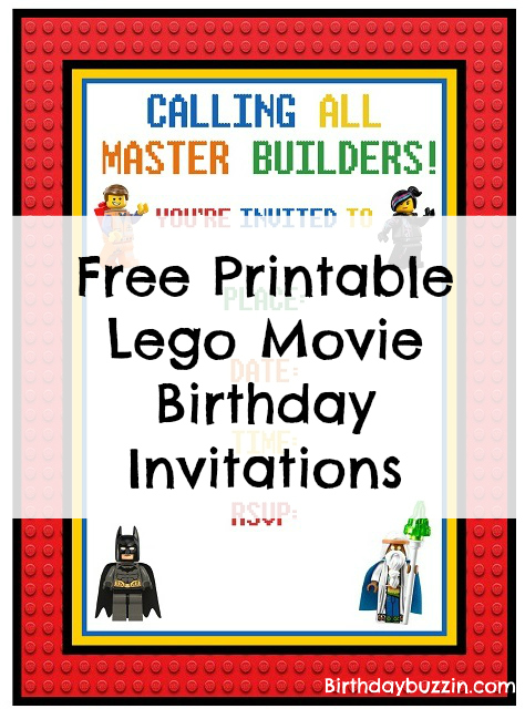 free printable lego movie birthday