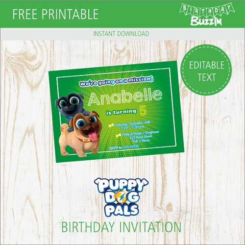 free printable puppy dog pals birthday