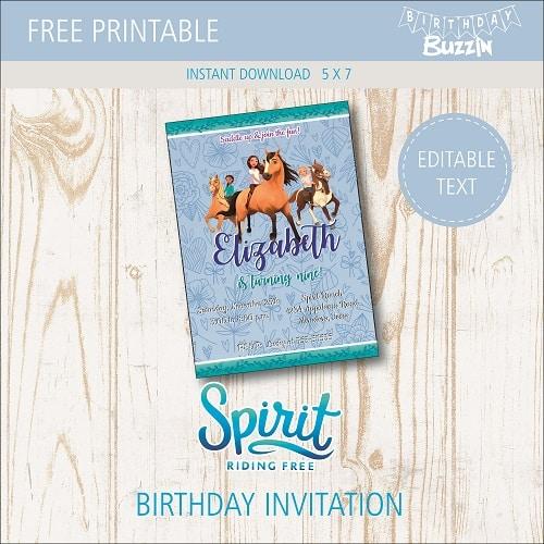 free printable spirit riding free