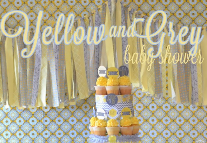 Party Decoration Ideas With Gray And Yellow Chevron Supplies Bigdot Happydot