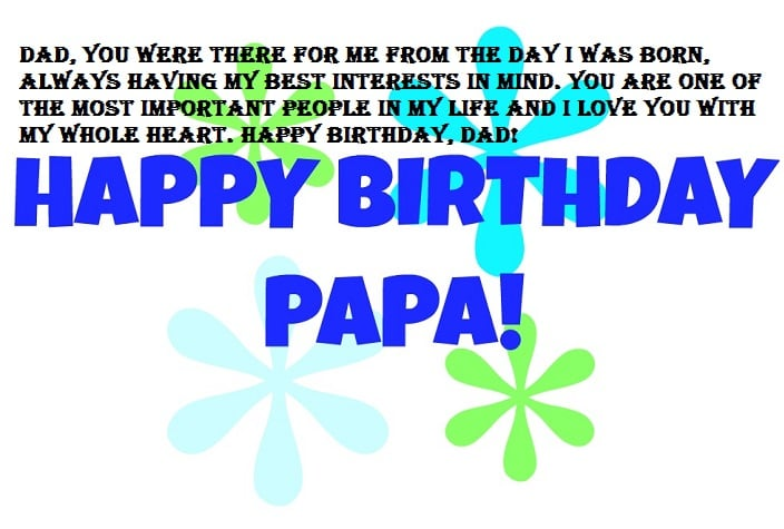 Happy Birthday Dad, Image with Quote