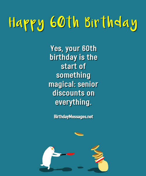 60th Birthday Wishes Quotes Birthday Messages For 60 Year Olds