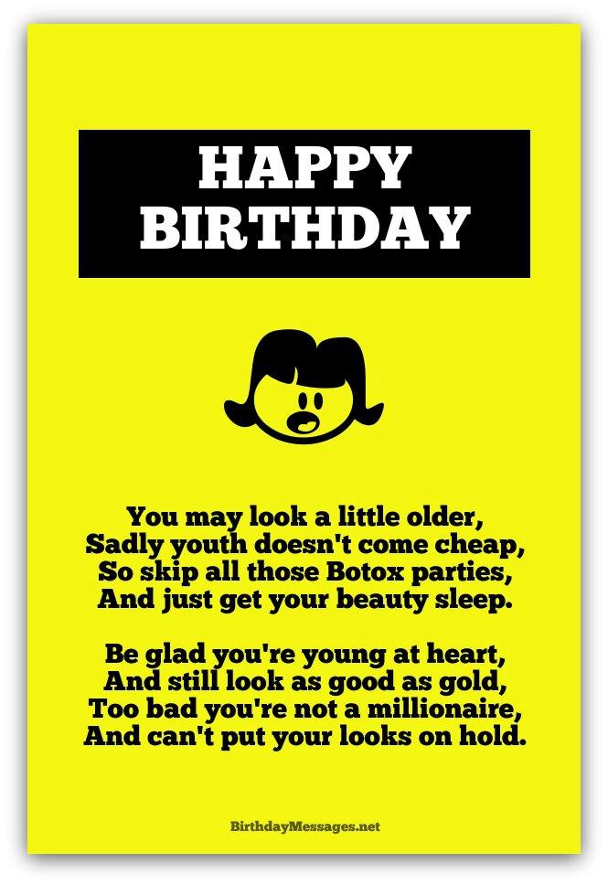 Funny Birthday Poems Friends