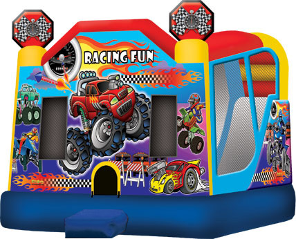 Extra Large Monster Truck 4 In 1 Combo With Slide Jumper Party Rental For Los Angeles Orange And Ventura County