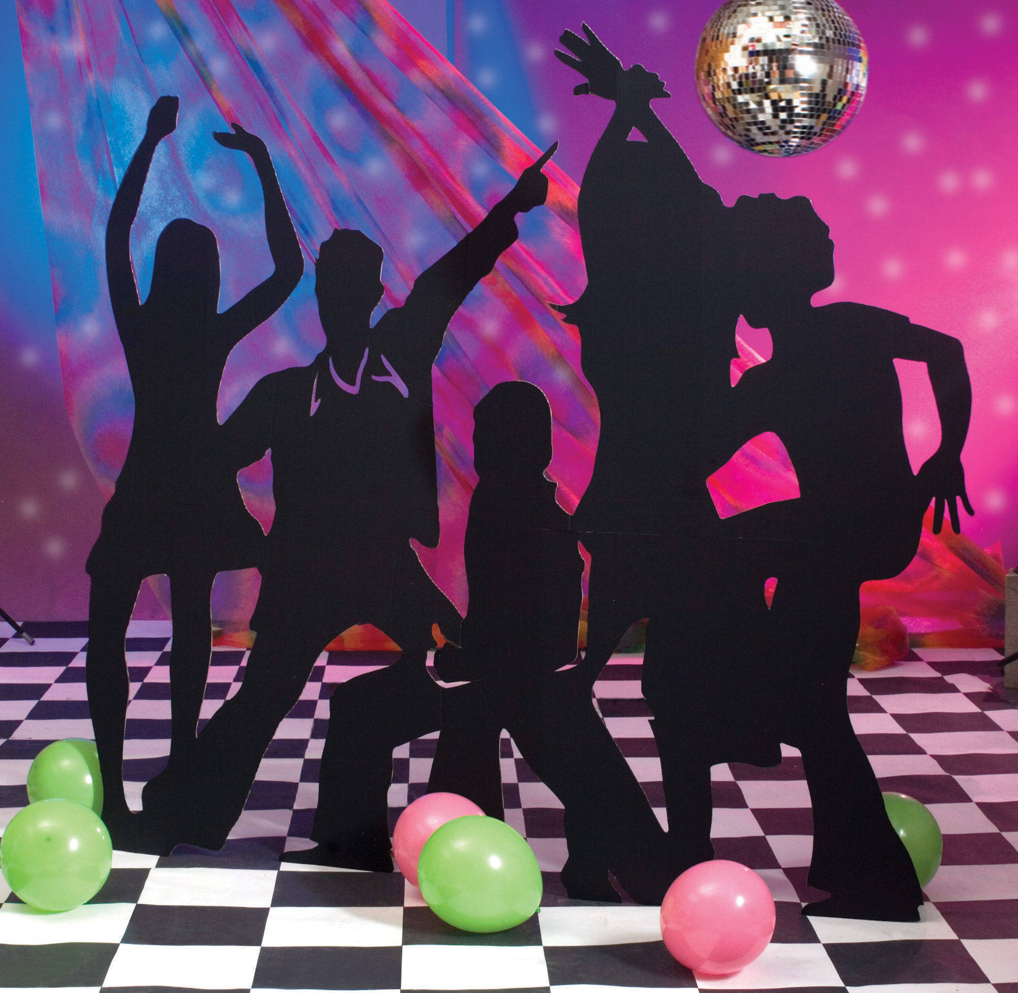 Disco Party Cake Decorations