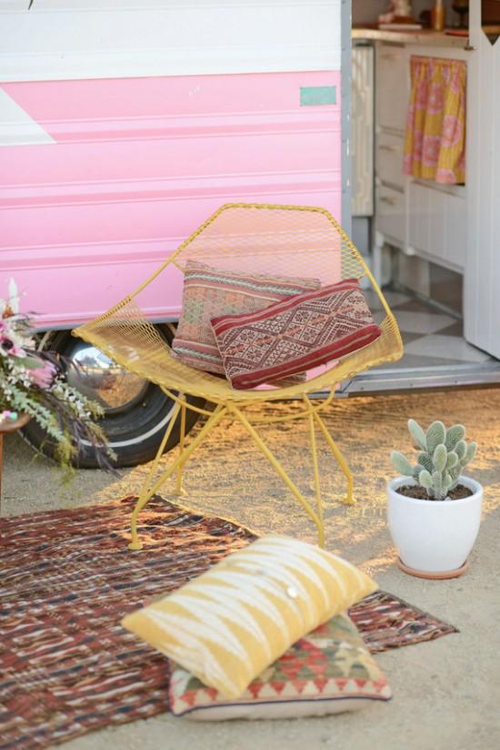 Outdoor Vintage Pink Camper Birthday Party Birthday