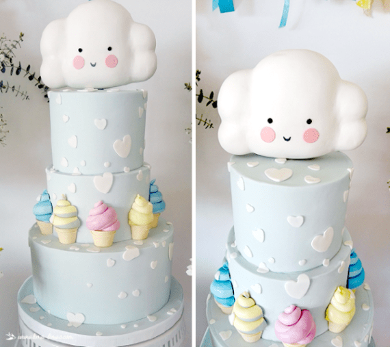 Charming Clouds And Ice Cream Party Birthday Party Ideas
