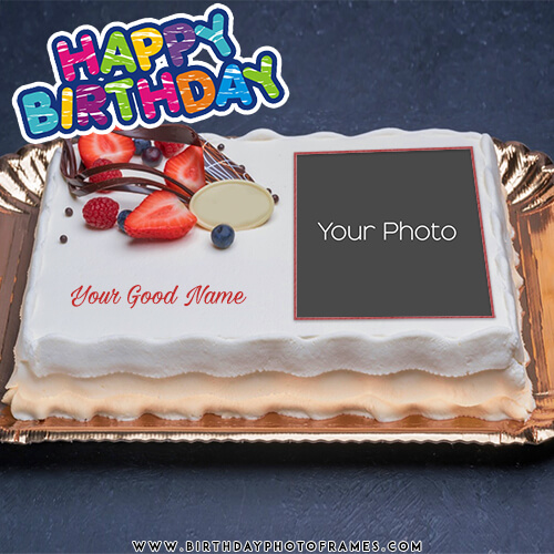 Birthday Cake With Name And Photo Edit Birthdayphotoframes Com