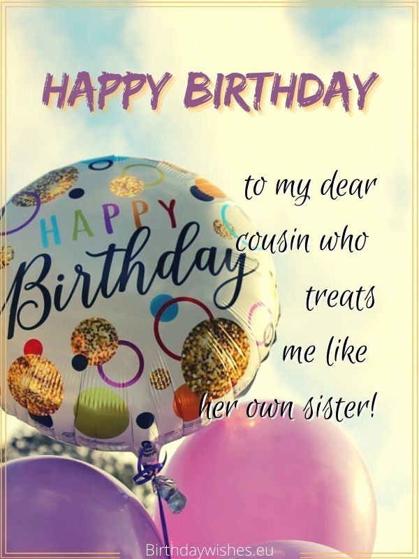 Happy Birthday Cousin Sister Birthday Wishes For Cousin Female
