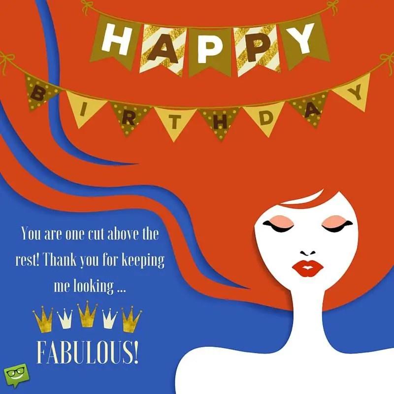 Happy Birthday Wish For Hairdresser