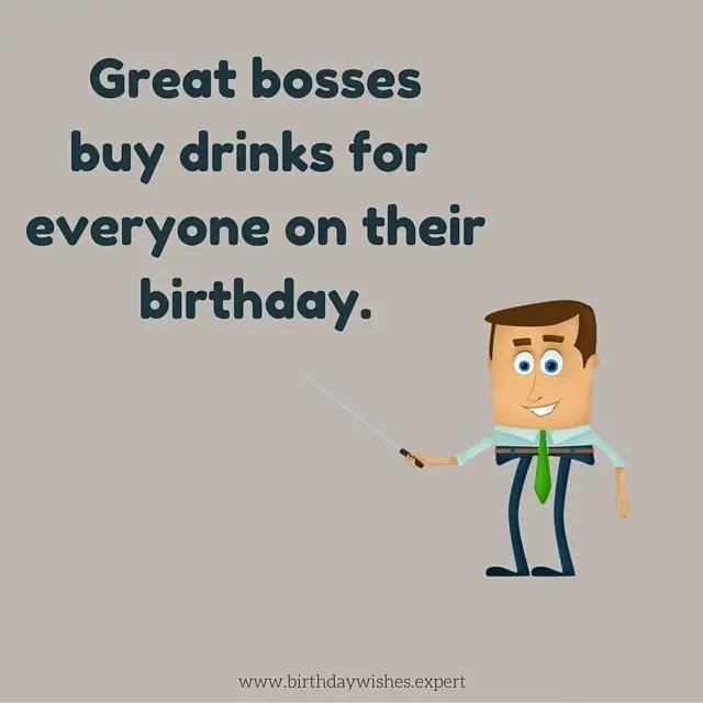 Humorous Birthday Wishes Boss
