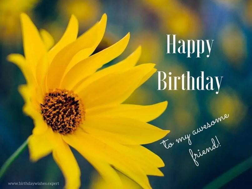 Happy Birthday Friend Flower Photo Wajiflower Co