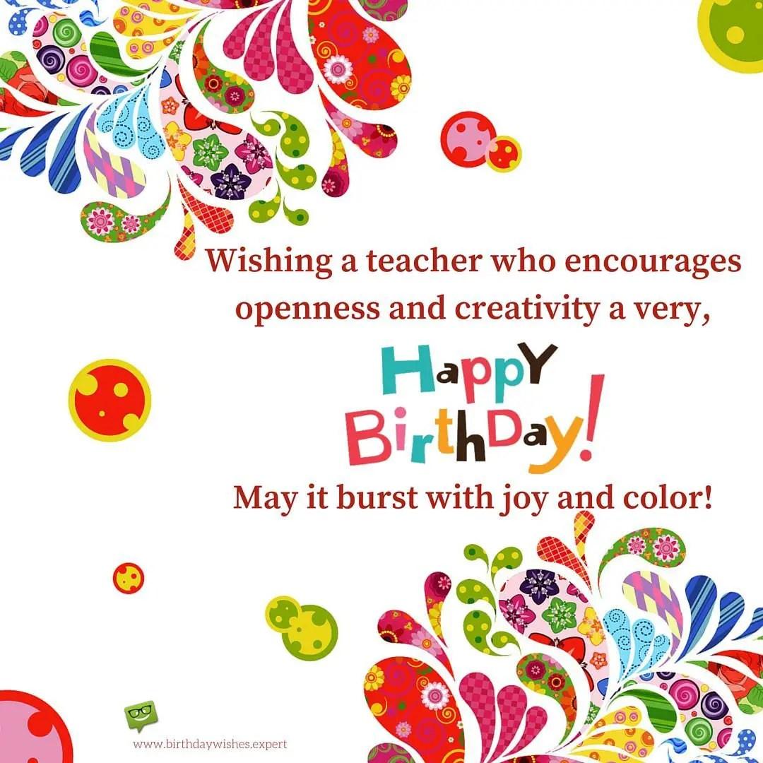 Happy Birthday To An Art Teacher