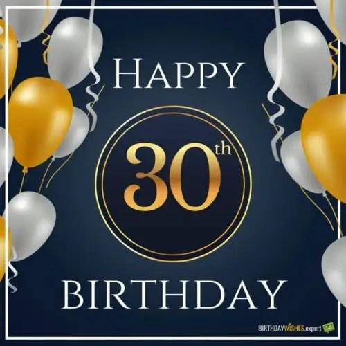 Happy 30th Birthday Funny Wishes