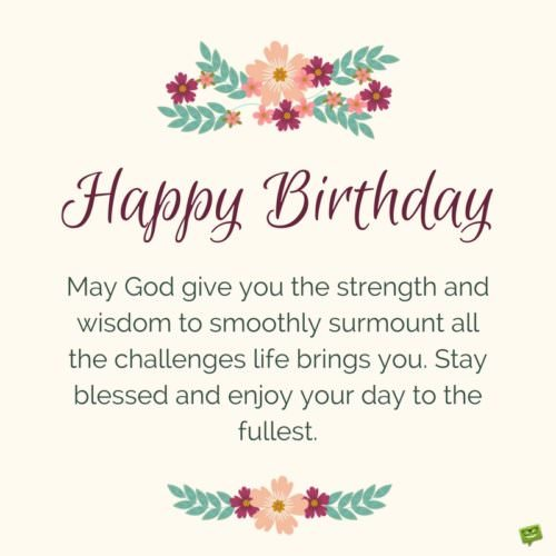 Biblical Messages Wishes Birthday