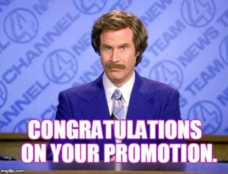 congratulations for promotion meme