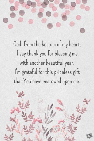 Birthday Prayers For Myself Thank God For Another Birthday