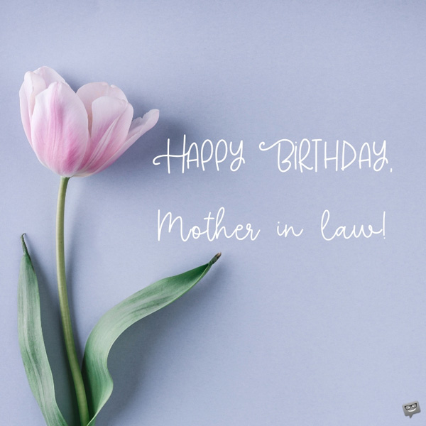 Happy Birthday Mother In Law The Mother We Deserve