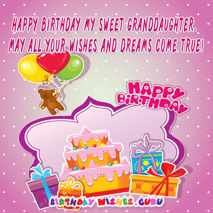 Happy Birthday Wishes For Granddaughter By Birthday Wishes Guru